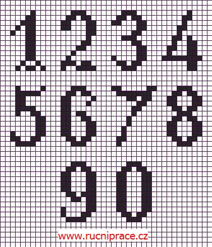 How To Crochet Numbers : Numbers, filet crochet, motive, crochet patterns, free, crocheting ...