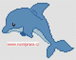 Dolphin, free cross stitch, download pattern, cross stitch ...