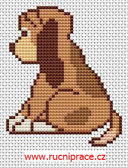 Dog - free cross stitch pattern