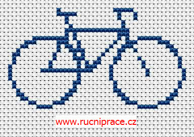 Bike - free cross stitch pattern