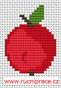 Apple - free cross stitch pattern