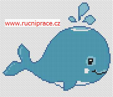 Whale - free cross stitch pattern