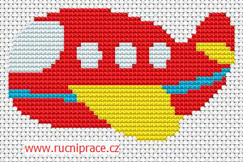 Airplane - free cross stitch pattern