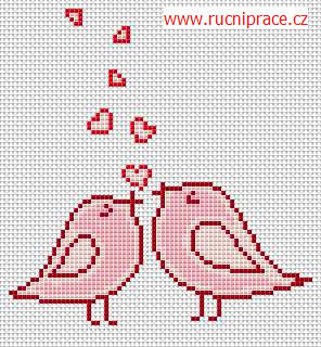 Little birds - free cross stitch pattern