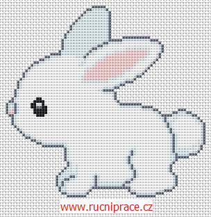 Bunny - free cross stitch pattern