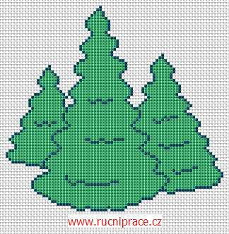 Woods - free cross stitch pattern
