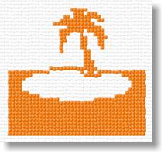 Pam's Patterns :: Palm Tree Christmas Tree Crochet Pattern