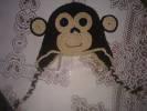 háčkování, háčkovaná čepička s opičkou