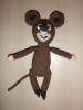 háčkovaná myška z Krtečka