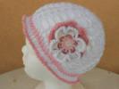 háčkování, bavlněný dívčí klobouček