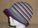 háčkování, dámský klobouček