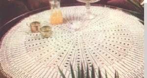 Kruhová pletená pokrývka
