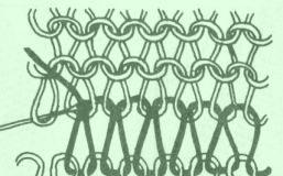 Spojování pletených dílů