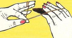 Vázání frivolitkového uzlíku