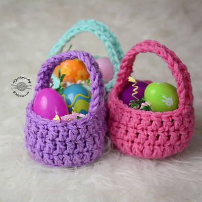 Malý velikonoční košík - háčkování