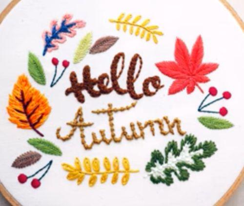 Podzimní motivy na vyšívání
